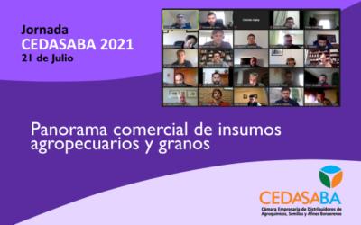 Jornada CEDASABA 2021, abordó panorama comercial de insumos y granos